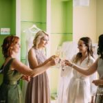 kāzu rīts, līgavas māsas, šampanietis