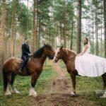 zirgi kāu fotosesijā