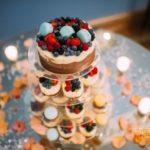 kāzu kūciņu torte, ogas